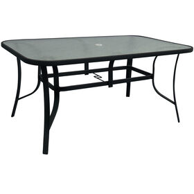 Picture of Black Steel Patio Dining Table 38 X 60 in.