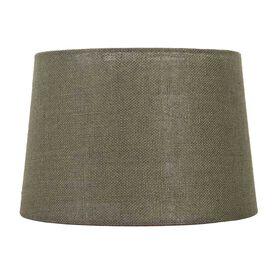 Picture of Brown Burlap Drum Lamp Shade 13X15X10