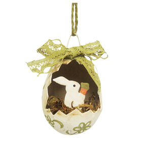 Picture of BUNNY W/CARROT EGG ORNAMENT
