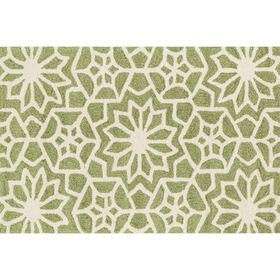 Picture of Layla Green Floral Compass Accent Rug 27 X 45-in