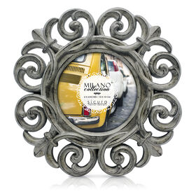 Picture of 4 X 4-in Round Gray Giovanni Frame