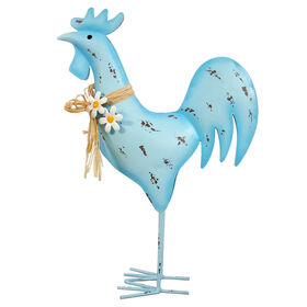 Picture of METAL DISTRESSED ROOSTER BLU