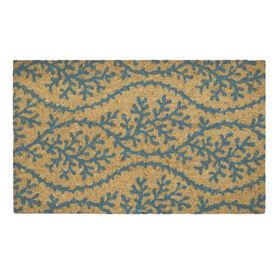 Picture of Coir Coral Wave Rug - Blue, 18x30-in.