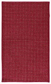 Picture of D101 Red and Beige Gridlock Rug- 3x5 ft