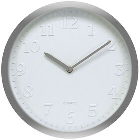 Picture of White Embossed Gray Clock