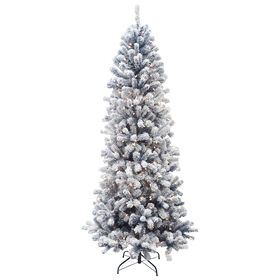Picture of D13 7-ft Flocked White Snow Christmas Tree