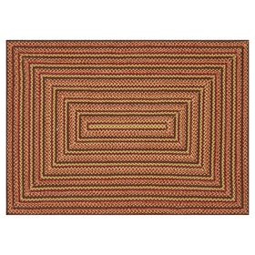 Picture of Multicolor Braided Red Rug 5 X 7 ft