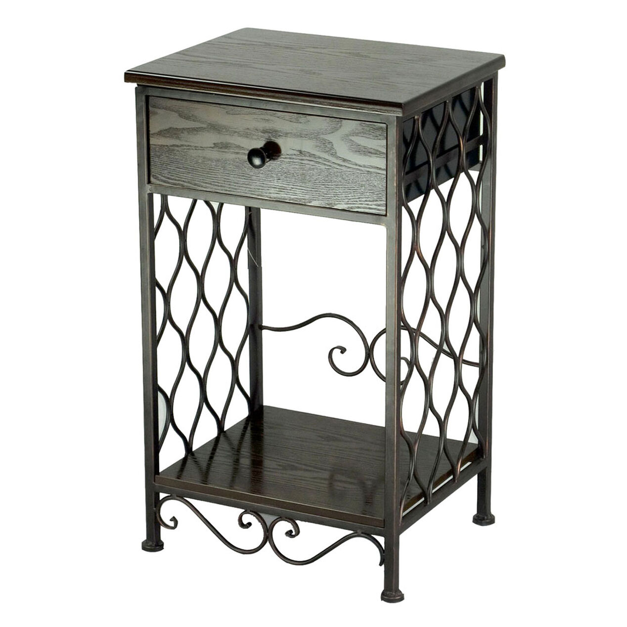 1 drawer wood steel onion table at home for 1 drawer table