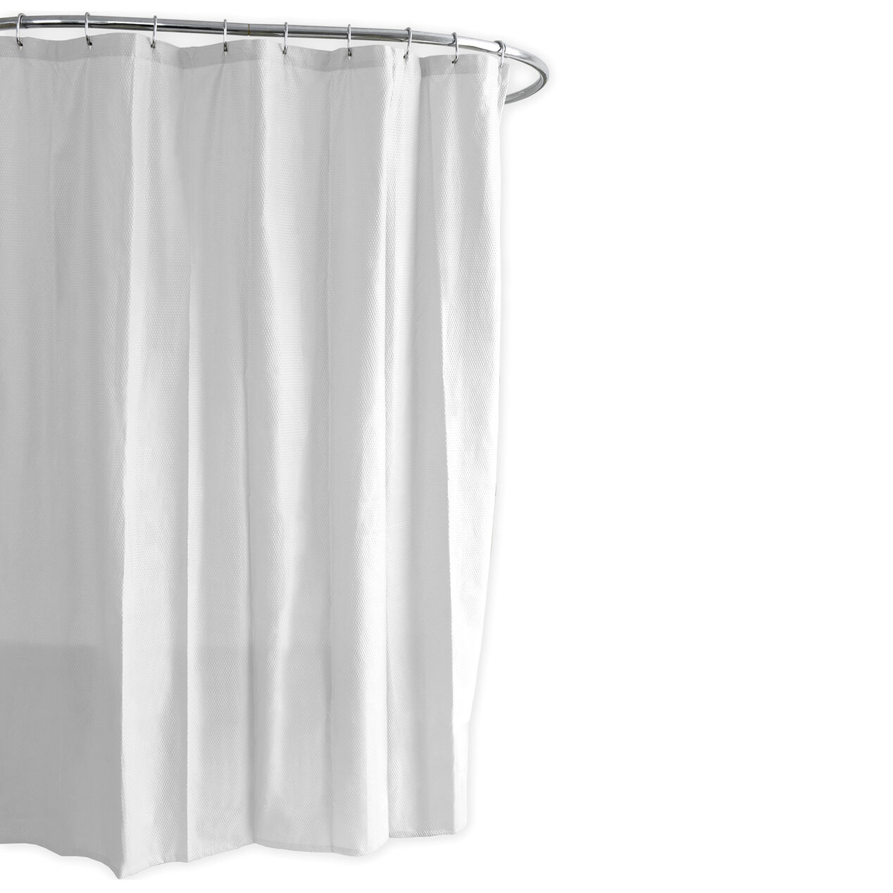 White embossed fabric shower liner at home for Bathroom liner