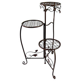 Picture of 28-in. Leaf T-Leg 3-Tier Plant Stand