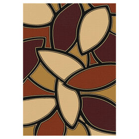 Picture of Red and Gold Benamy Rug 5 X 7 ft