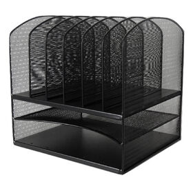 Picture of MTL MESH FILE RACK   TRAY-BLK