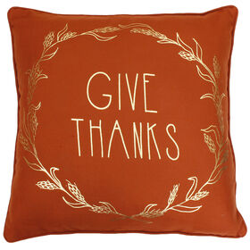 Harvest Give Thanks Pillow- 20-in