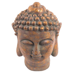 Picture of 15IN GRNGLD BUDDA HEAD SCULP
