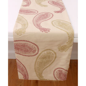 Picture of Red Sophia Paisley Table Runner