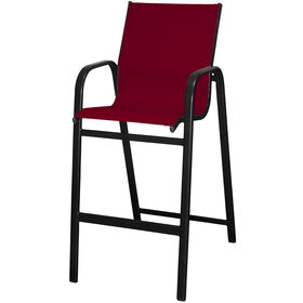 Picture of Red High-back Sling Bar Stool - 30 in.