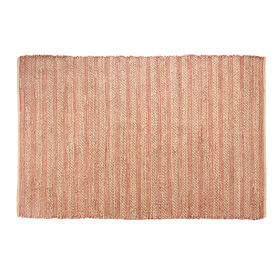 Picture of B193 Red Stripe Jute Rug