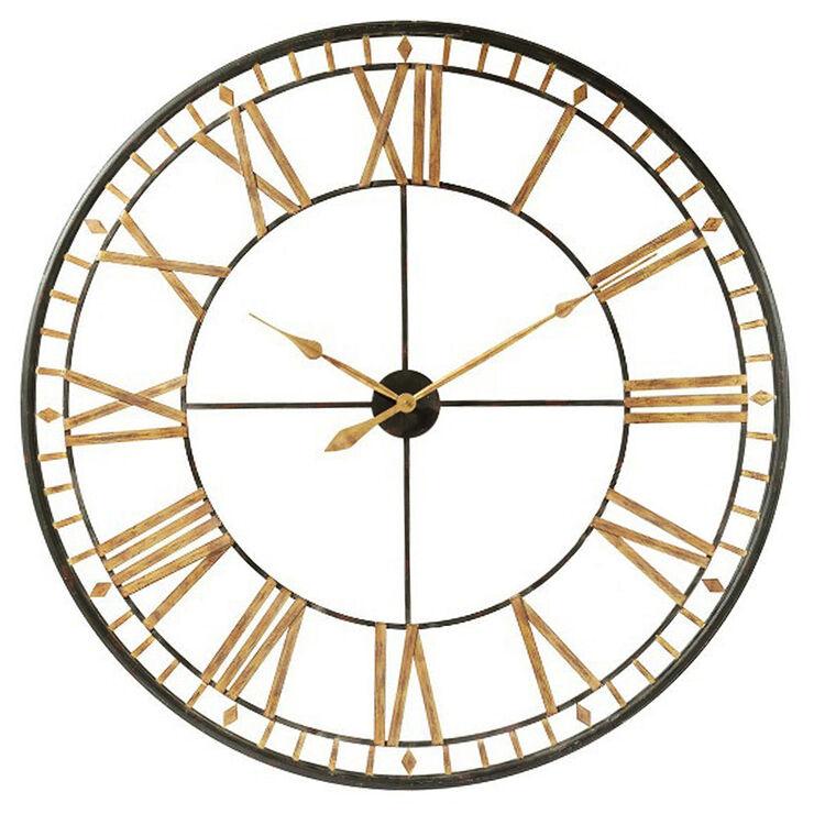 46-in Gold and Black Giant Numbered Clock