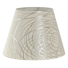 Picture of White and Silver Line Lamp Shade 8x13x10-in