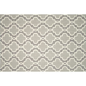 Picture of A132 Grey Grid Rug