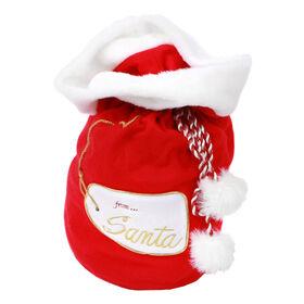 Picture of Medium Plush Santa Bag