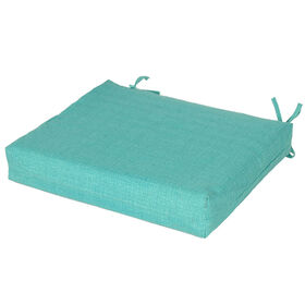 Picture of Teal Peacock Square Seat Cushion