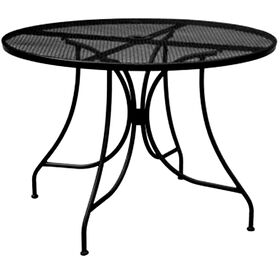 Picture of Black Wrought Iron Round Table 30 in.