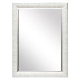 Picture of 24 X 36-in White and Silver Kristen Mirror