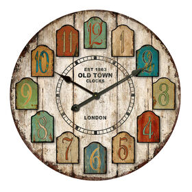 Picture of 30-in Distressed Tag Clock