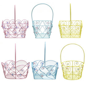 Picture of Assortment of 6 Mini Metal Bead Baskets