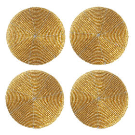Picture of Gold Beaded Coasters, Set of 4