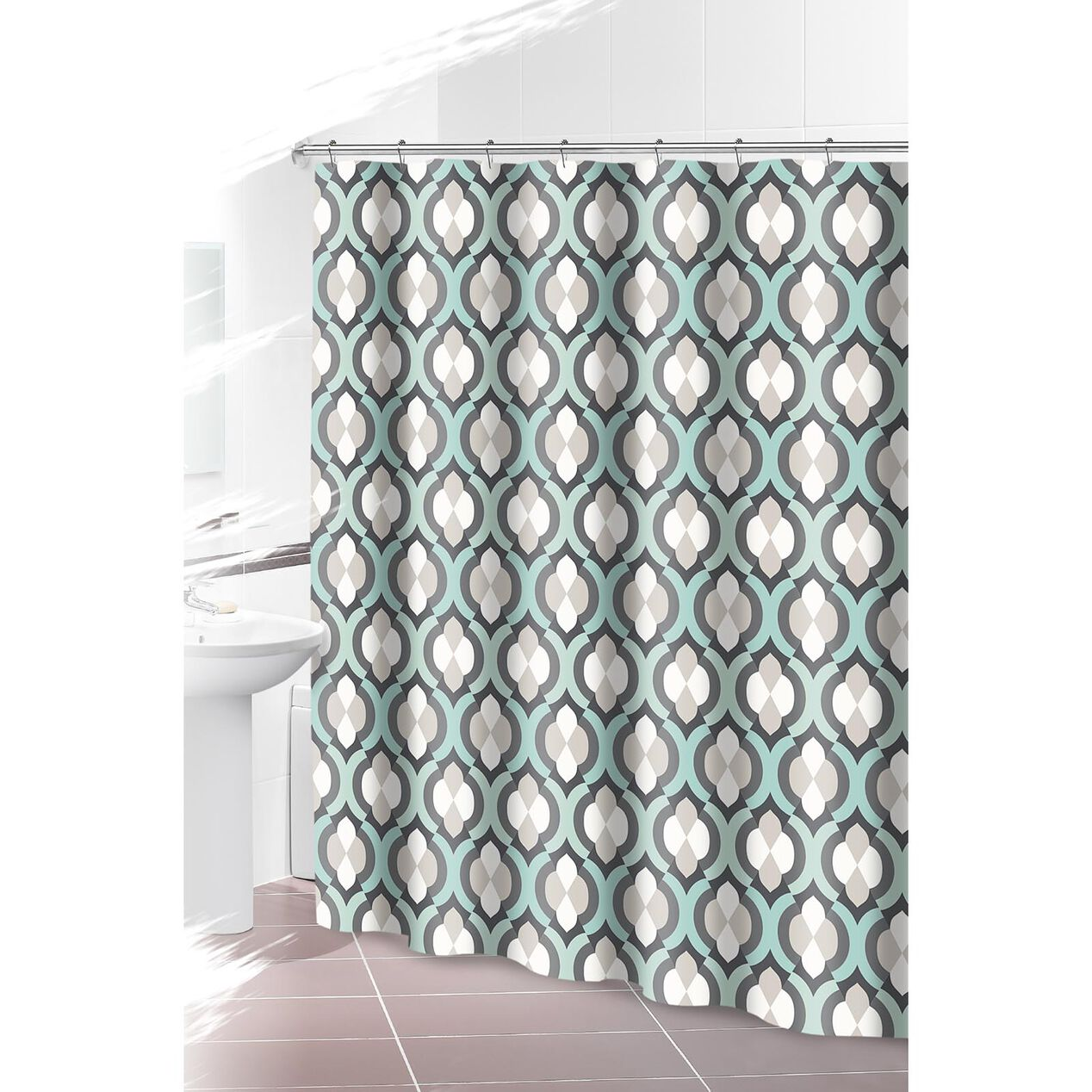 Teal And Gray Shower Curtain grey and teal bathroom accessories