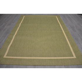 Picture of E101 Green Border Rug