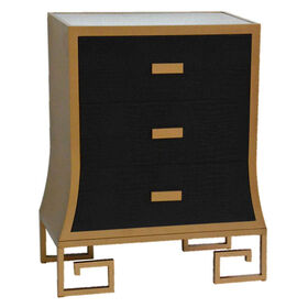 Picture of BLACK SHAGREEN 3DRWR CBNT
