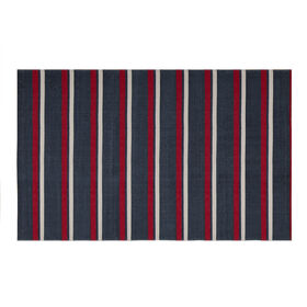Picture of 27 x 45 Red Stripe Chindi Rug
