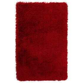 Picture of Solid Red Senses Shag Accent Rug 27 X 42-in
