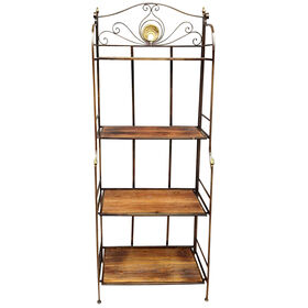 Picture of Metal and Wood Baker's Rack 62-in