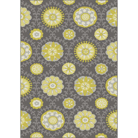 Picture of D267 Grey and Yellow Marketa Rug- 3x5 ft