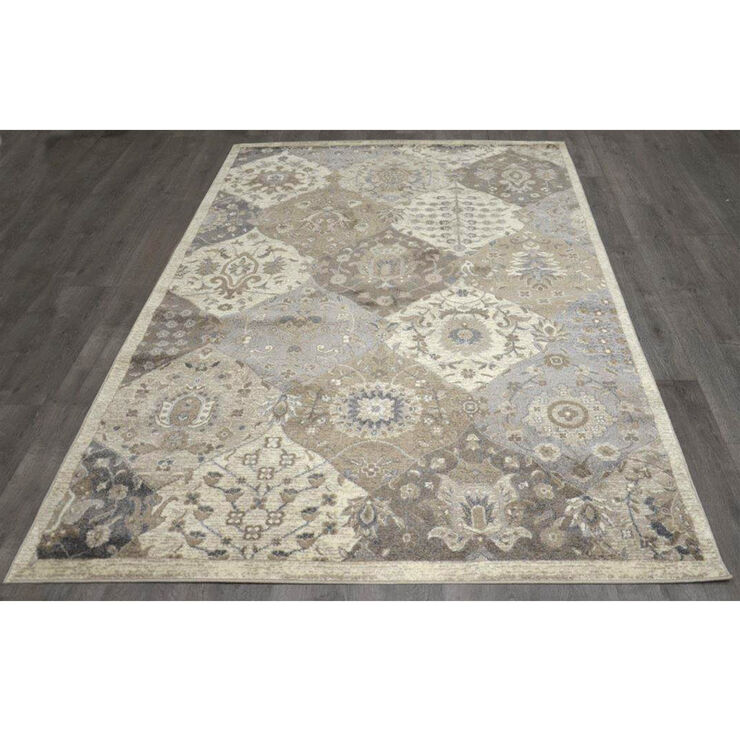 B303 Antique Quatrefoil Rug- 5x7 ft
