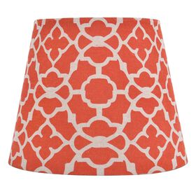 Picture of Orange Moroccan Print Lamp Shade 10x8x7-in