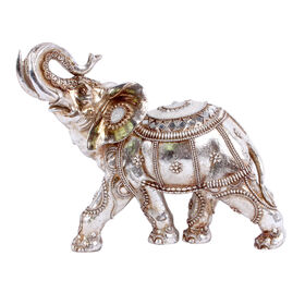 picture of silver elephant with gold accents 145 in boho chic furniture