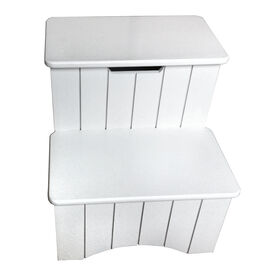 Picture of 13-in Storage Stool - White