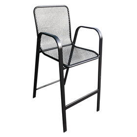 Picture of Wrought Iron Mesh Barstool, 30-in.