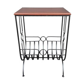 Picture of Wood & Metal Magazine Rack, 17x26-in.