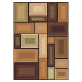 Picture of D122 Brown Gloucester Prism Rug