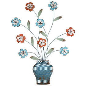 Picture of 21 X 28-in Distressed Flower in Vase Wall Décor