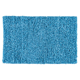 Picture of Turquoise Shiny Fur Shag Accent Rug 27 X 45-in