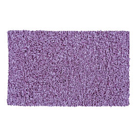 Picture of Purple Shiny Fur Shag Accent Rug 20 X 34-in