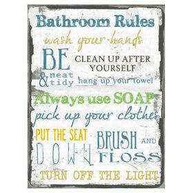 Picture of 18 X 24-in Bathroom Rules Studio Art