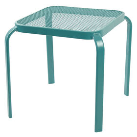 Picture of Square Wrought Iron End Table - Teal 16 in.